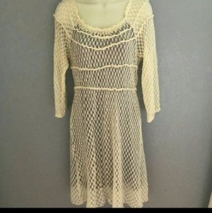 Umgee ivory lace dress size large